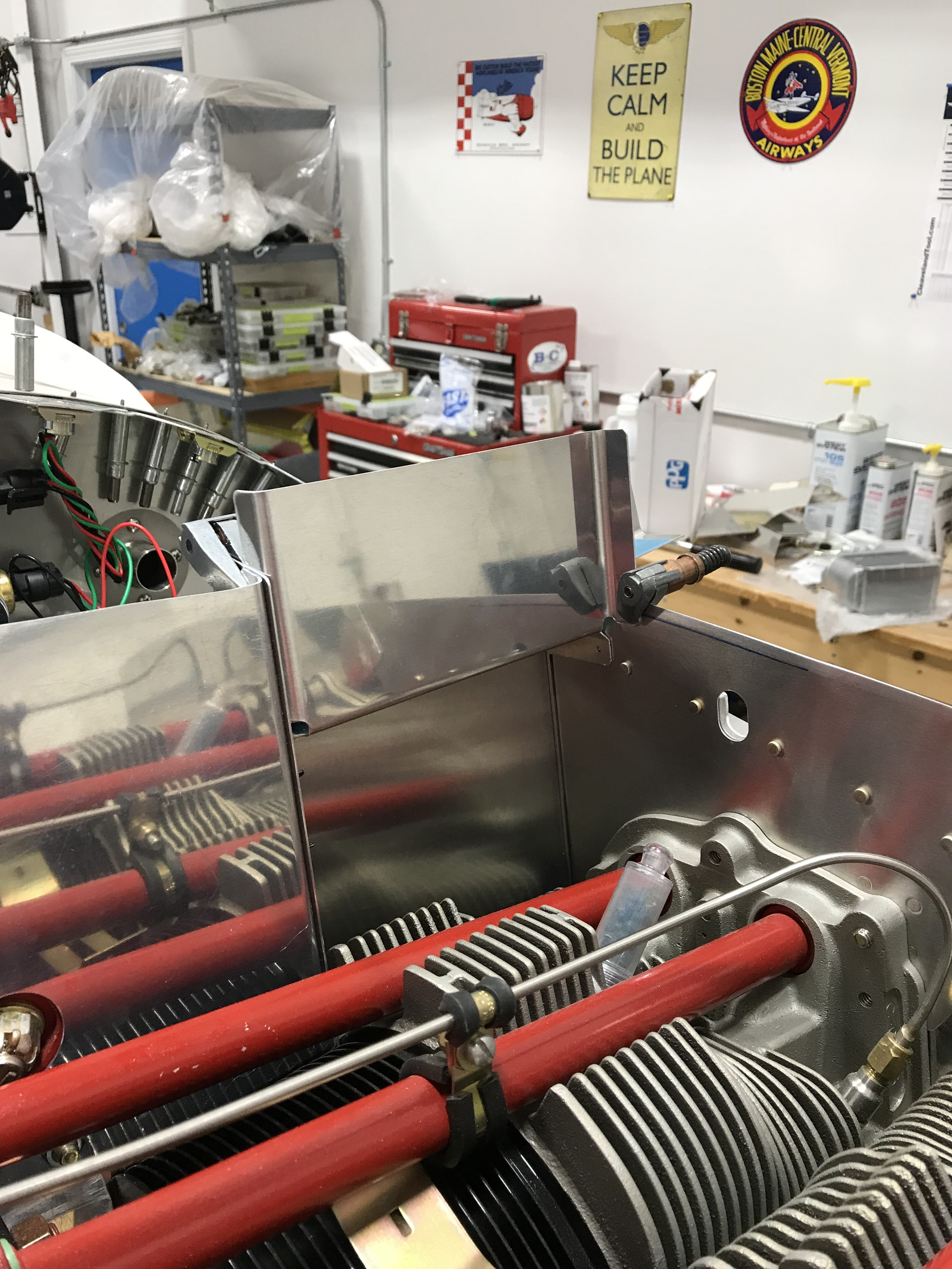 Fitting oil cooler reinforcement