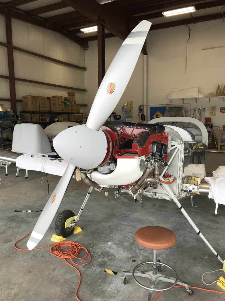 Prop safety-wired and spinner installed